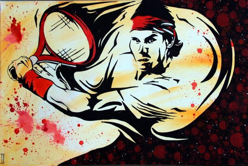 Rafael Nadal by aquarelle-autrement